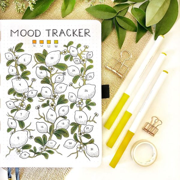 I Am Feeling Zesty This Spring Bullet Journal Mood Tracker Ideas for May