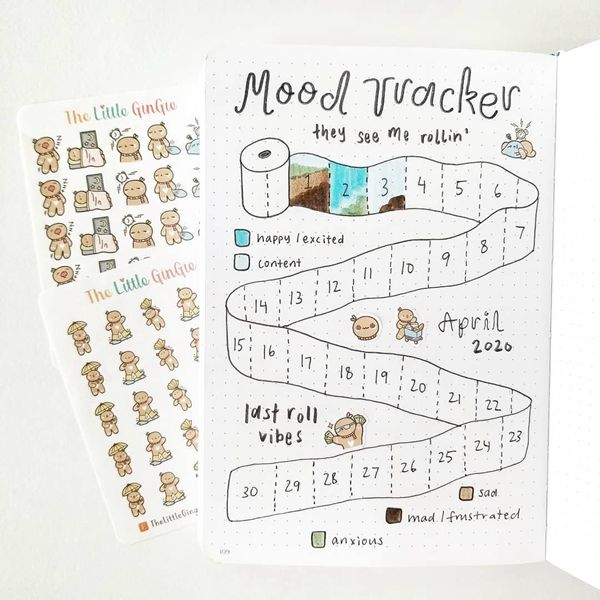 It Is Not Always Flowers And Butterflies Bullet Journal Mood Tracker Ideas for May