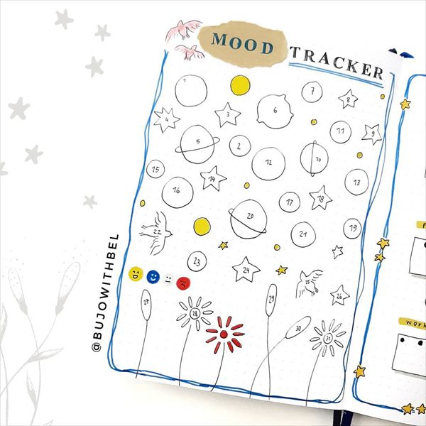 The You-niverse of You Bullet Journal Mood Tracker Ideas for May