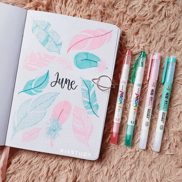 Birds of a Feather - Bullet Journal Cover Ideas for June