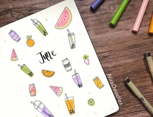 Bubble Tea - Bullet Journal Cover Ideas for June