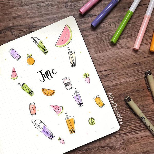 Bubble Tea - Bullet Journal Cover Ideas for June
