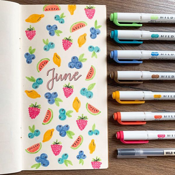 Feeling Fruity - Bullet Journal Cover Ideas for June