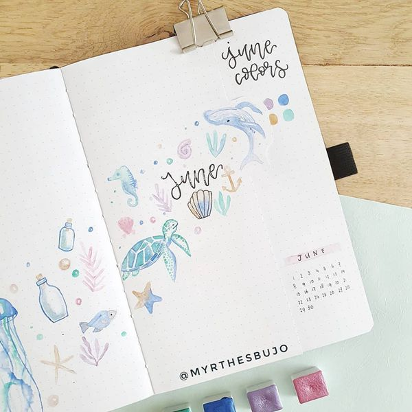 Into the Deep - Bullet Journal Cover Ideas for June