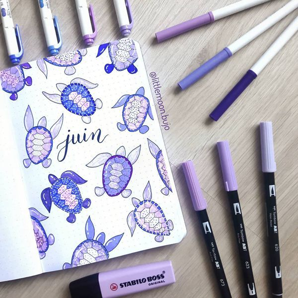 Sea Turtles - Bullet Journal Cover Ideas for June