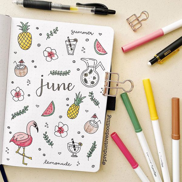 Tropical Paradise - Bullet Journal Cover Ideas for June