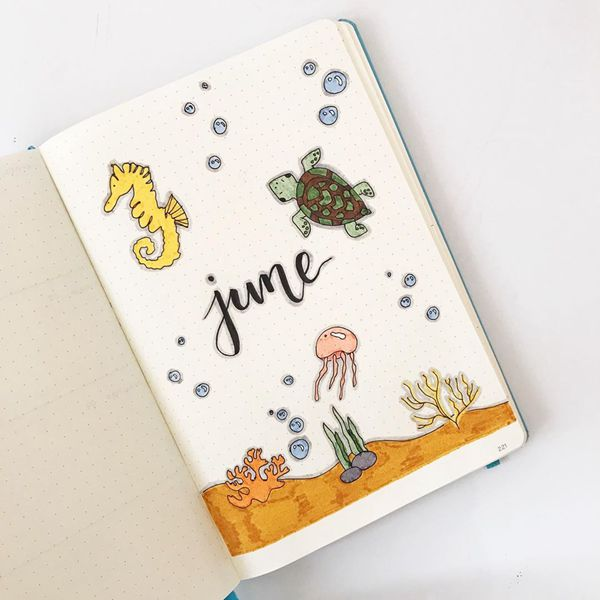 Under the Sea - Bullet Journal Cover Ideas for June