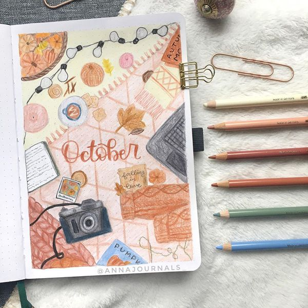 Abstract Patterns - Bullet Journal Cover Pages Ideas for October