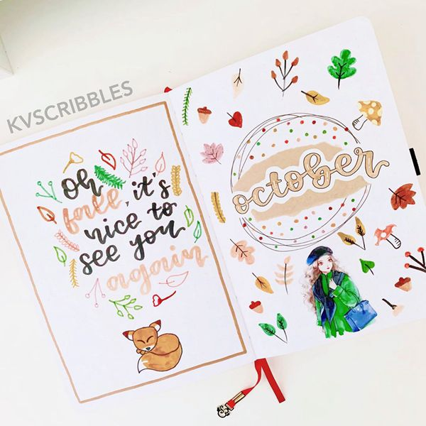 Alice In Wonderland - Bullet Journal Cover Pages Ideas for October