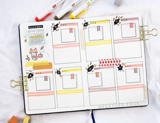 American History Weekly Spread Bullet Journal Weekly Spreads Ideas for October