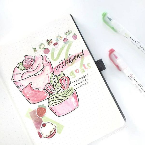 Autumn? Who Cares! - Bullet Journal Cover Pages Ideas for October