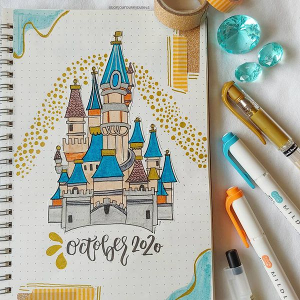 Build Me A Castle - Bullet Journal Cover Pages Ideas for October