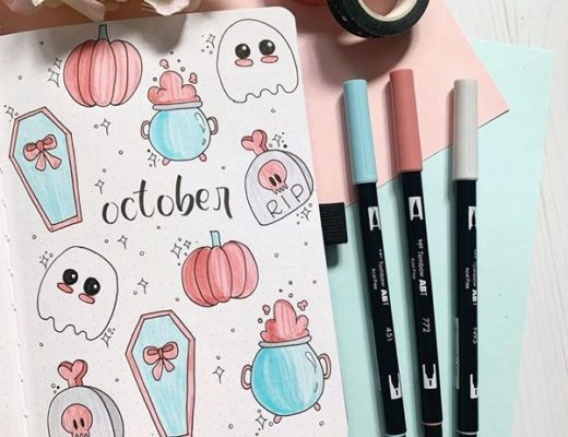 Candy Crush Halloween Bullet Journal Cover Pages Ideas for October