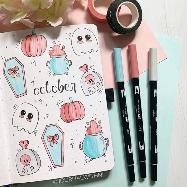 Candy Crush Halloween - Bullet Journal Cover Pages Ideas for October