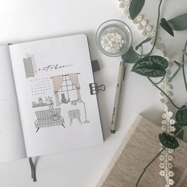 Comfort Is Where My Home Is - Bullet Journal Cover Pages Ideas for October