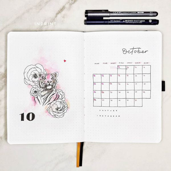 I Am My Spirit Animal - Bullet Journal Cover Pages Ideas for October