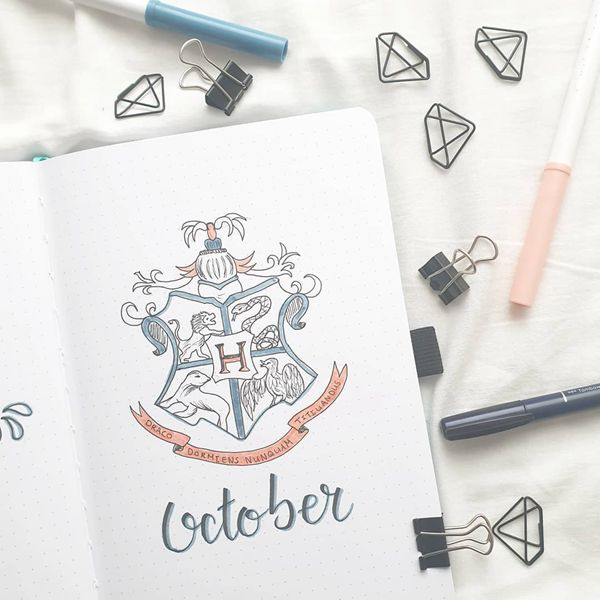 I Represent Me - Bullet Journal Cover Pages Ideas for October