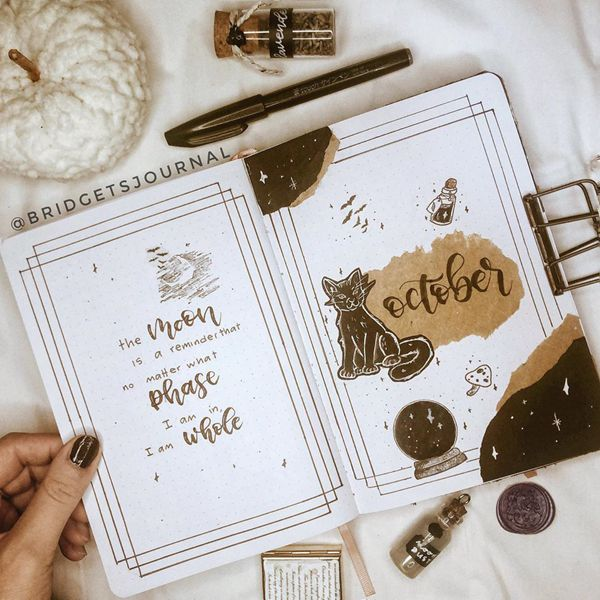 Inspire Yourself - Bullet Journal Cover Pages Ideas for October