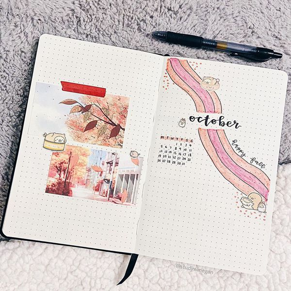 Keep It Simple - Bullet Journal Cover Pages Ideas for October