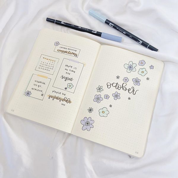 Making The Cover Be Your Goal - Bullet Journal Cover Pages Ideas for October