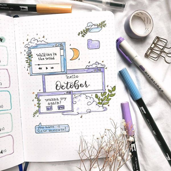 New Age Perspective - Bullet Journal Cover Pages Ideas for October