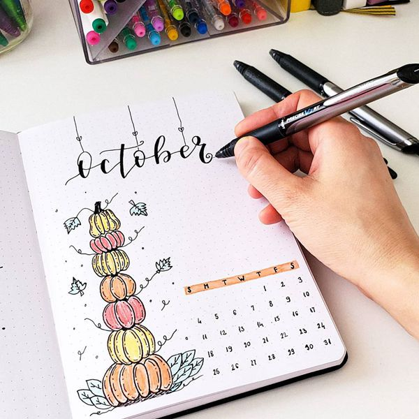 Pumpkin Tower - Bullet Journal Cover Pages Ideas for October