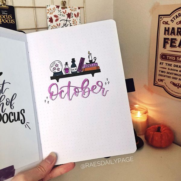 Put A Spell On Me - Bullet Journal Cover Pages Ideas for October