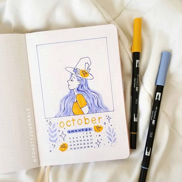 Smell The Magic - Bullet Journal Cover Pages Ideas for October