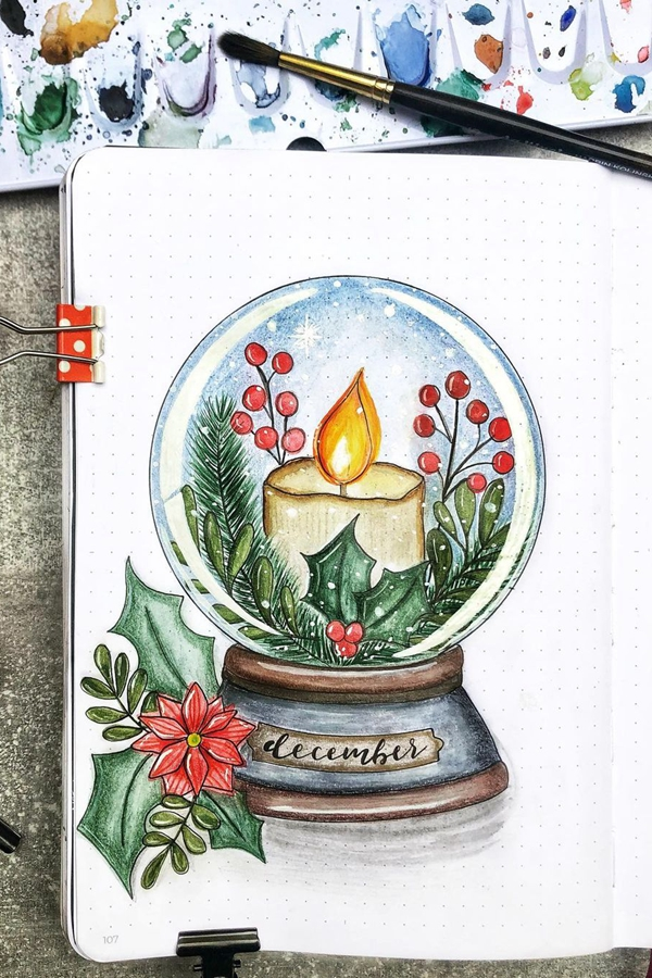 Go Against Practicality With This Stylized Idea - December Bullet Journal Ideas - Cover Page for December